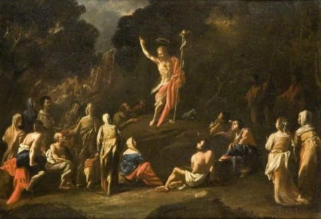 Cerquozzi, Michelangelo, 1602-1660; Saint John the Baptist Preaching in the Wilderness